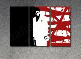 "Scarface - AL PACINO ""Red Blood"" 3 panel POP ART on canvas"
