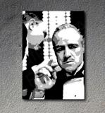 The Godfather Vito Corleone Marlon Brando canvas ART