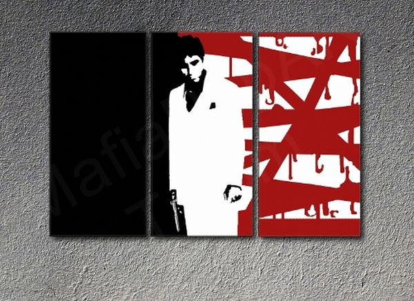 Al Pacino Scarface Al Pacino Quot Red Blood Quot 3 Panel Pop