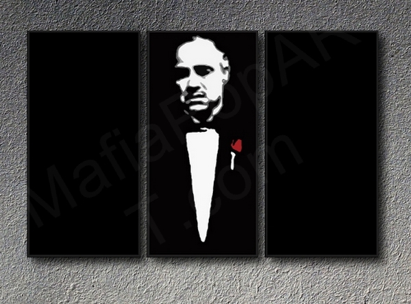 Canvas Picture Canvas Mural Art Print Der Pate Vito Don Corleone Marlon Brando
