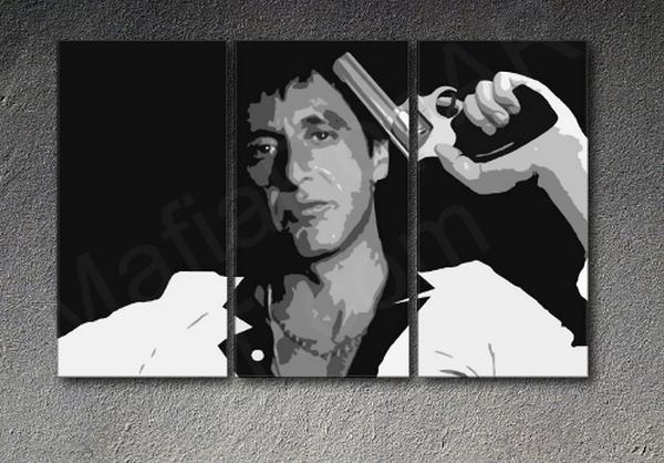 Scarface Al Pacino POP ART painting handpainted Al Pacino Scarface