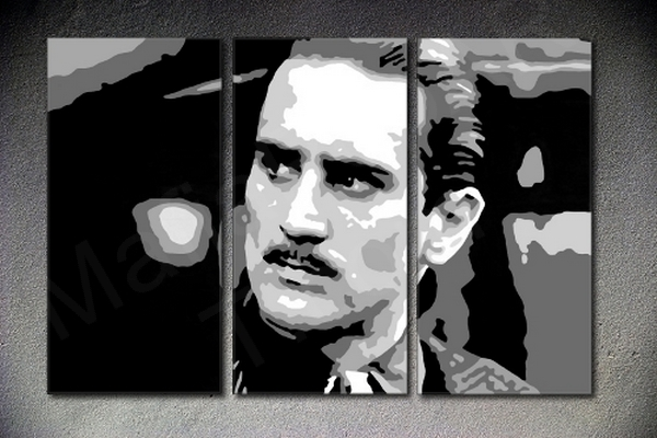 The Godfather - Robert De Niro 3 panel POP ART on canvas