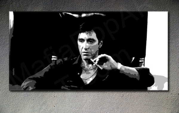 Scarface - AL PACINO POP ART painting on canvas 40% discount