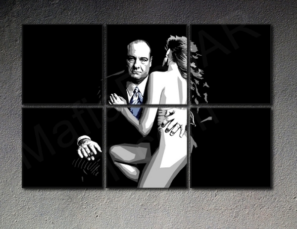 The Sopranos - 6 panel POP ART on canvas