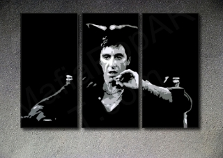 Scarface - AL PACINO 3 panel POP ART on canvas