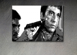 "Scarface - AL PACINO ""in chains"" POP ART painting on canvas"