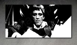 "Scarface - AL PACINO ""Cocain"" POP ART painting on canvas"