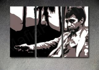"Scarface - AL PACINO ""Palm Beach"" 3 panel POP ART on canvas"
