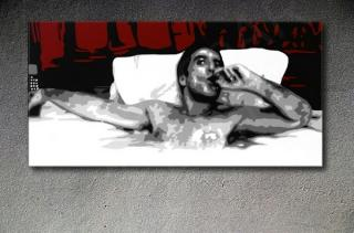 "Scarface - AL PACINO ""Relax"" POP ART painting on canvas"