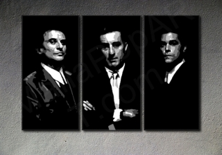 GoodFellas - Robert De Niro 3 panel POP ART on canvas