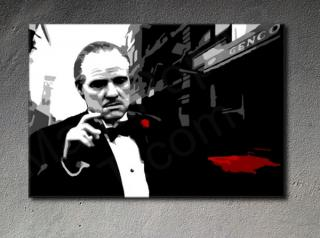 "The Godfather ""Mafia City II"" Marlon Brando canvas ART"