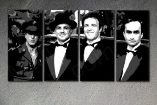 Godfather Corleone Family  4 panel POP ART on canvas